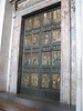 Holy door in the Vatican. It is only opened for jubilee years, and is walled up from the inside when not in use