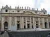 St Peter's Basilica with chairs set up for papal audience