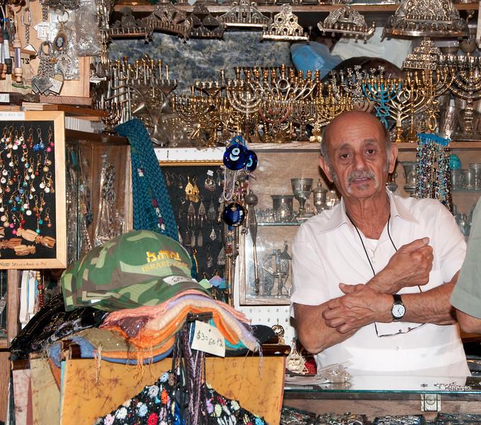 Shop owner of the Menorah store