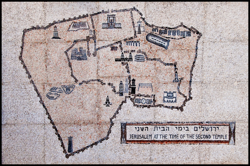 Israel Museum - Map of Jerusalem at the time of second temple