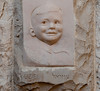 Yad VaShem Holocaust Museum - Stone Sculpture of Uziel.  This child was killed in the Holocaust, and his parents built this memorial in his memory.