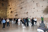 Men's side of the Wailing Wall which is larger than the women side