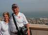 Sandy and Arnold at the top of the Baha'i Gardens