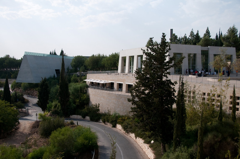 View from the bus of the  Yad VaShem Holocaust Museum