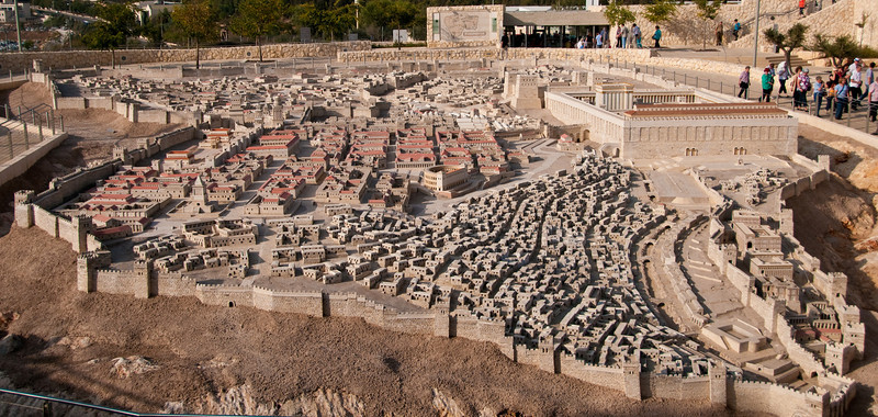 Israel Museum - This is a model of Jerusalem in the year 66 CE