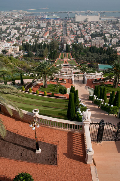 View from the top of the Baha'i Gardens