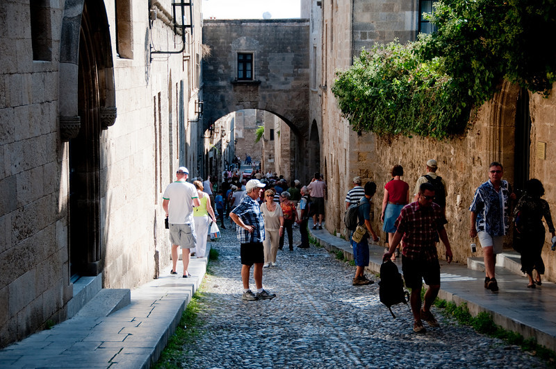 View of street in old town