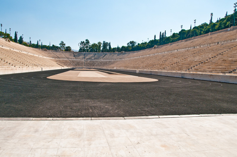 The Panathenaic Stadium, with marble seats