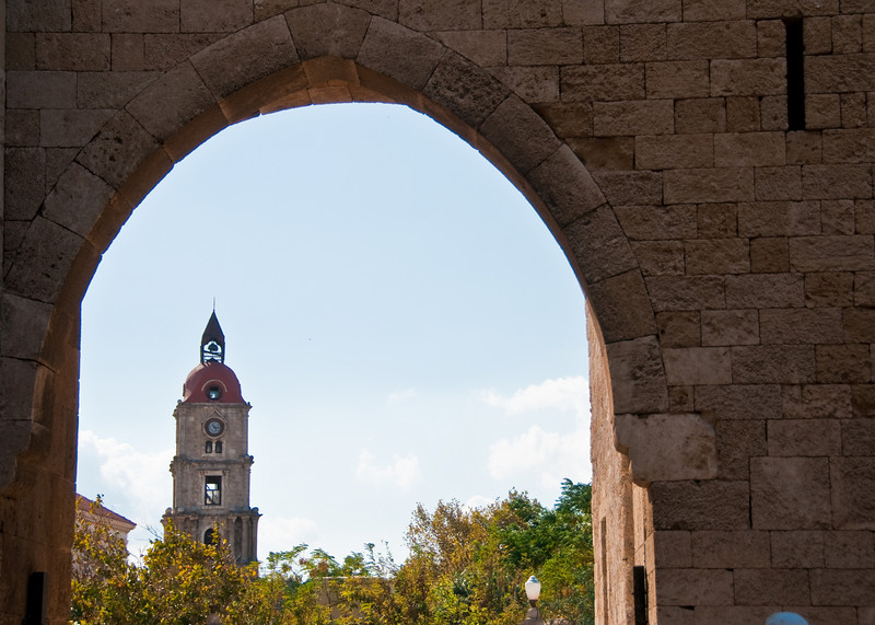 View through an archway - Palace of the Knights