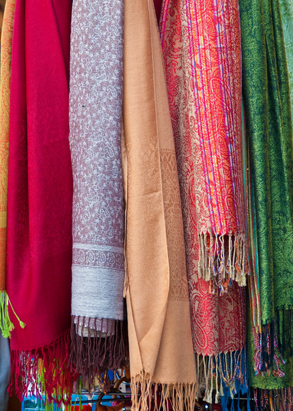 Some colorful scarfs