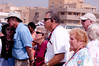 Sandy, Tom, and Judy listening to our tour guide talking about the Sphinx