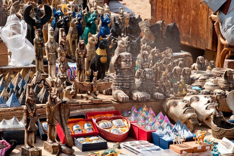 Shopping area around the  Pyramids