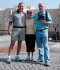 Tom, Judy, and John Prieth in front of Fort Qaitbey