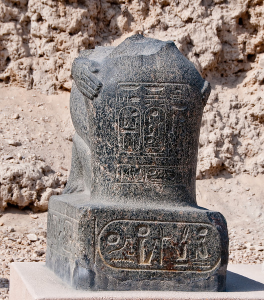 Black Granite of the King Ramesses II Represented Kneeling