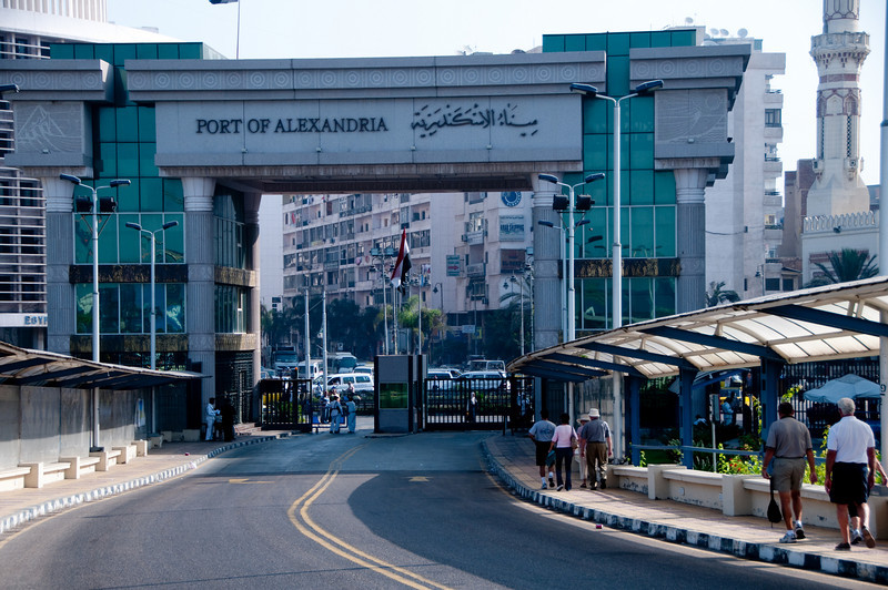Entrance to Alexandria from the port