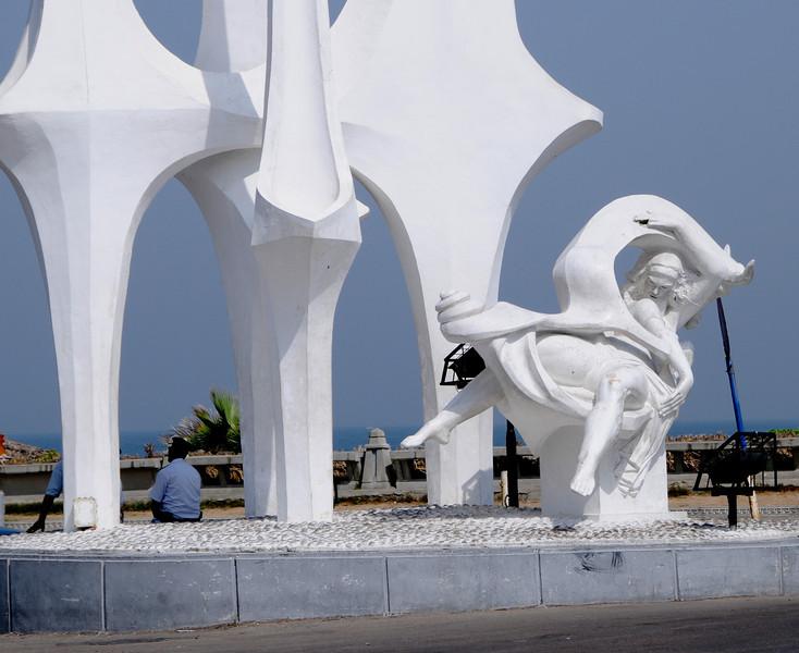 Statue of Poseidon making love to Athena