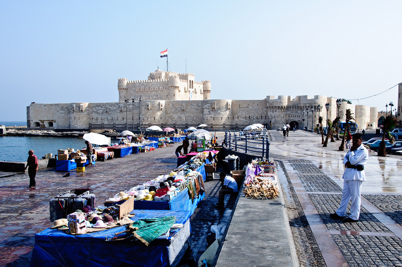 Market area at Fort Qaitbey