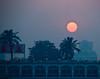 Sunset leaving Cairo