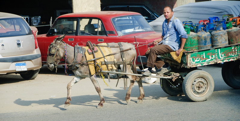 Street scene around the Cairo shopping area