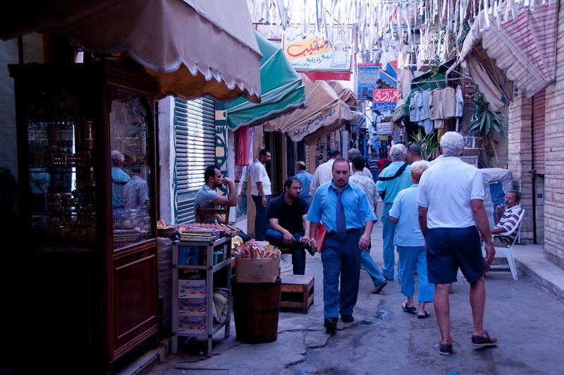 Shopping market in Alexandria that we ventured around