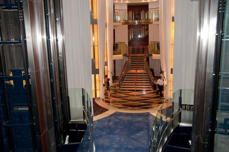 Main stairway on lower deck