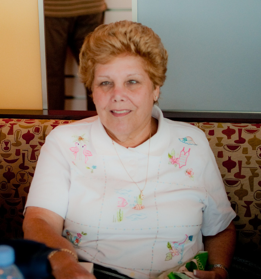 Sandy at the Oceanview Cafe having lunch