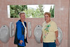 Judy and Sandy had to see the exceptional view from the men's Urinals