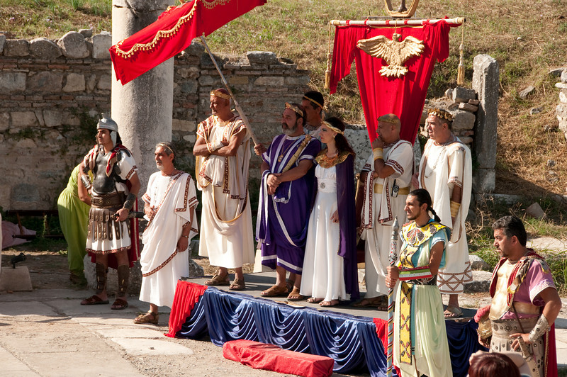 Ancient  performers at Ephesus