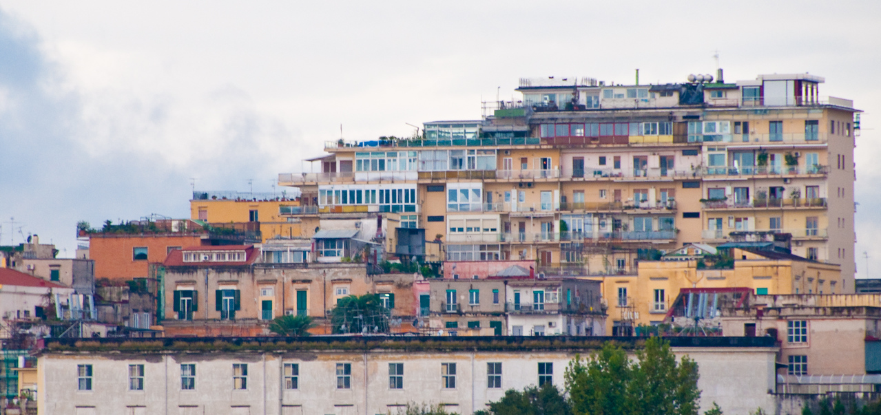 View of Naples from our ship