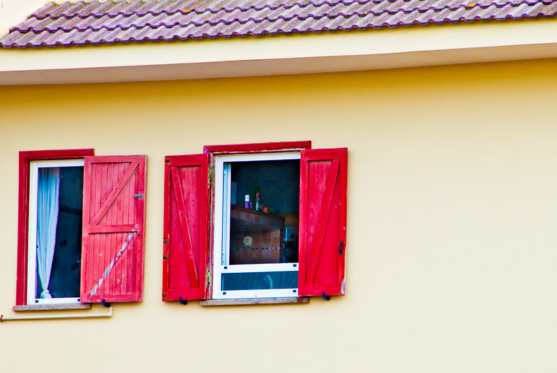 Take a look at those red window shutters