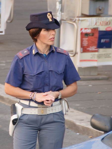 Is she a real police woman?