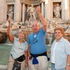 Lynn and Max Levin and Sandy at  Trevi Fountain