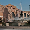 Basilica Santa Maria degli Angeli with the Fontana delle Naiadi in front of it. This struture is composed of 2 horizontal photos and put together using panorama technique in Photoshop