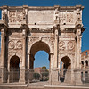 Arch of Constantine which is located by the Colosseum