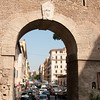 Arch along the Via dei Corridori which is in Vatican City