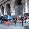 Horse and buggy ride around the Colosseum