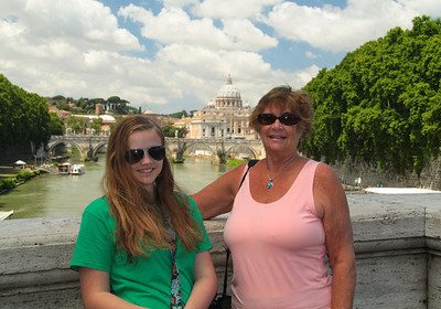 Grandma and me with St. peters. yah