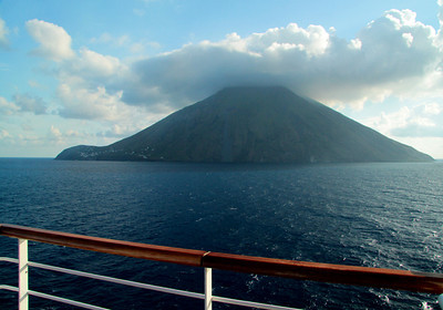 Mount Stromboli, along the coast of Sicily