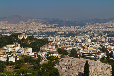 Looking out over Athens from the the top of the Acropolis