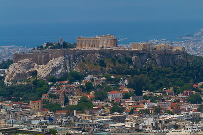 A view of the Acropolis from a distance