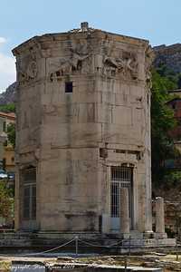 The Tower of the Winds at the ancient agora in Athens, Greece.