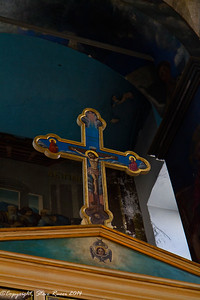 A crucifix inside the Panagia Trimartiri, Crete