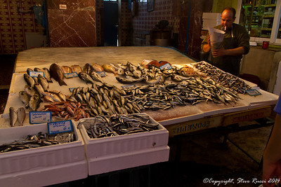 Fresh fish at the local market, Chania, Crete