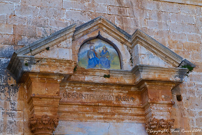 Above the entrance to Agia Triada of Tzangarolon monestary, Crete