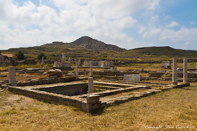 The ancient ruins of Delos, Greece