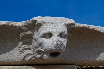 Carved detail of a lion's head - Delos, Greece