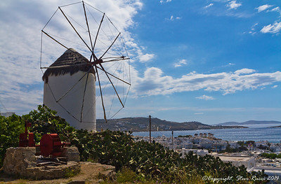 A windmill on Mykonos, Greece