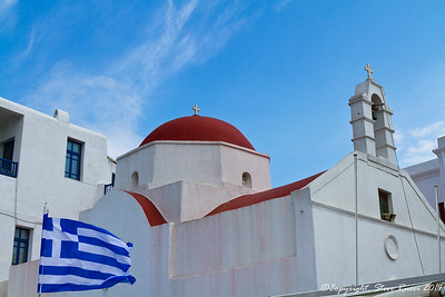 A church in Mykonos, Greece