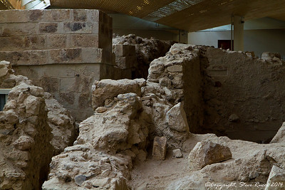 At the prehistoric site of Akrotiri on Santorini, Greece