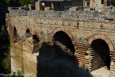 The ancient ruins of Herculaneum
